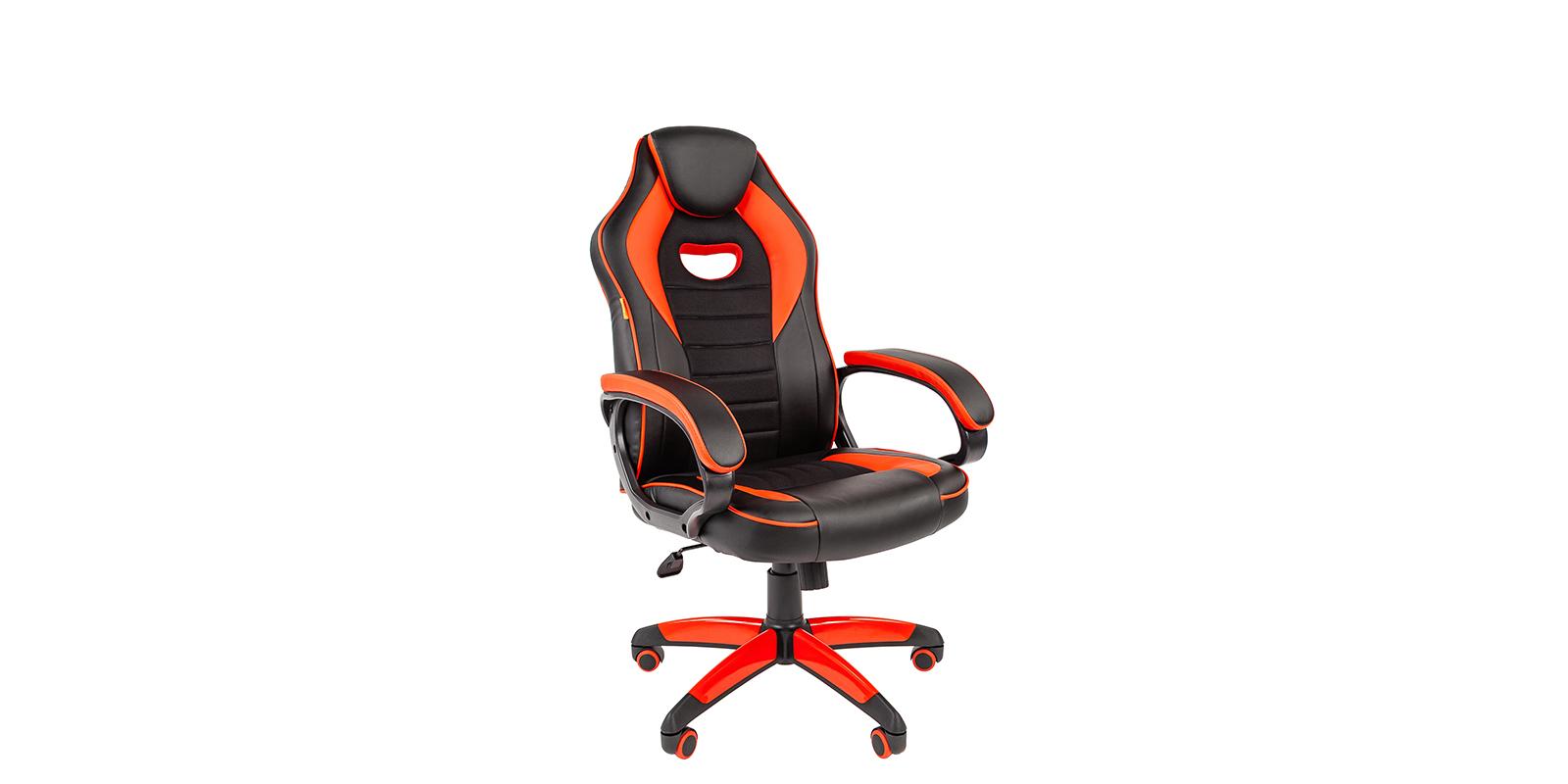 Игровое кресло Chairman game 16 (черный/красный)