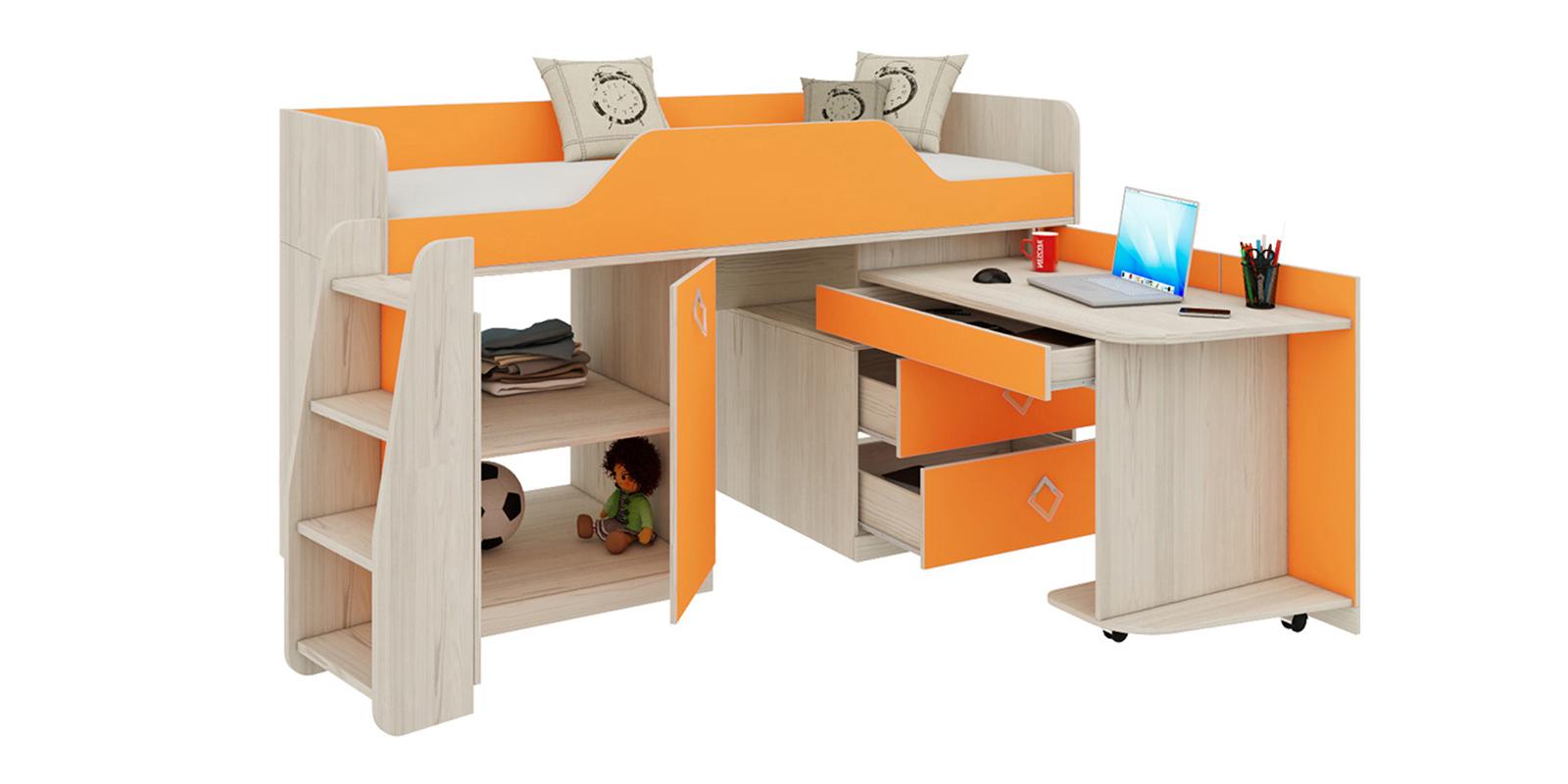 Кровать односпальная Салоу кровать-трансформер (каттхилт/манго)