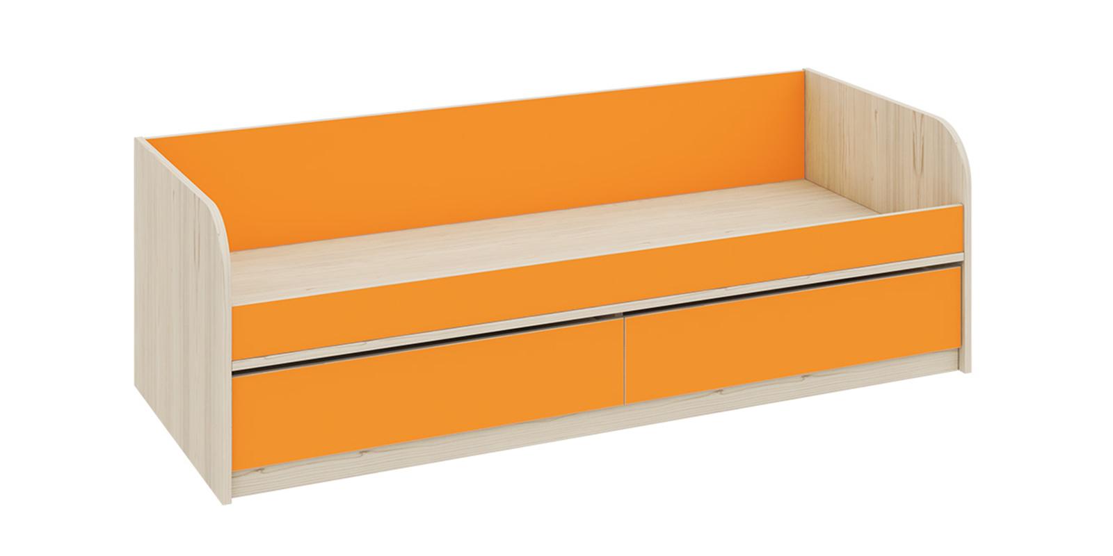 Кровать односпальная Салоу с 2-мя ящиками, без подъемного механизма (каттхилт/манго)