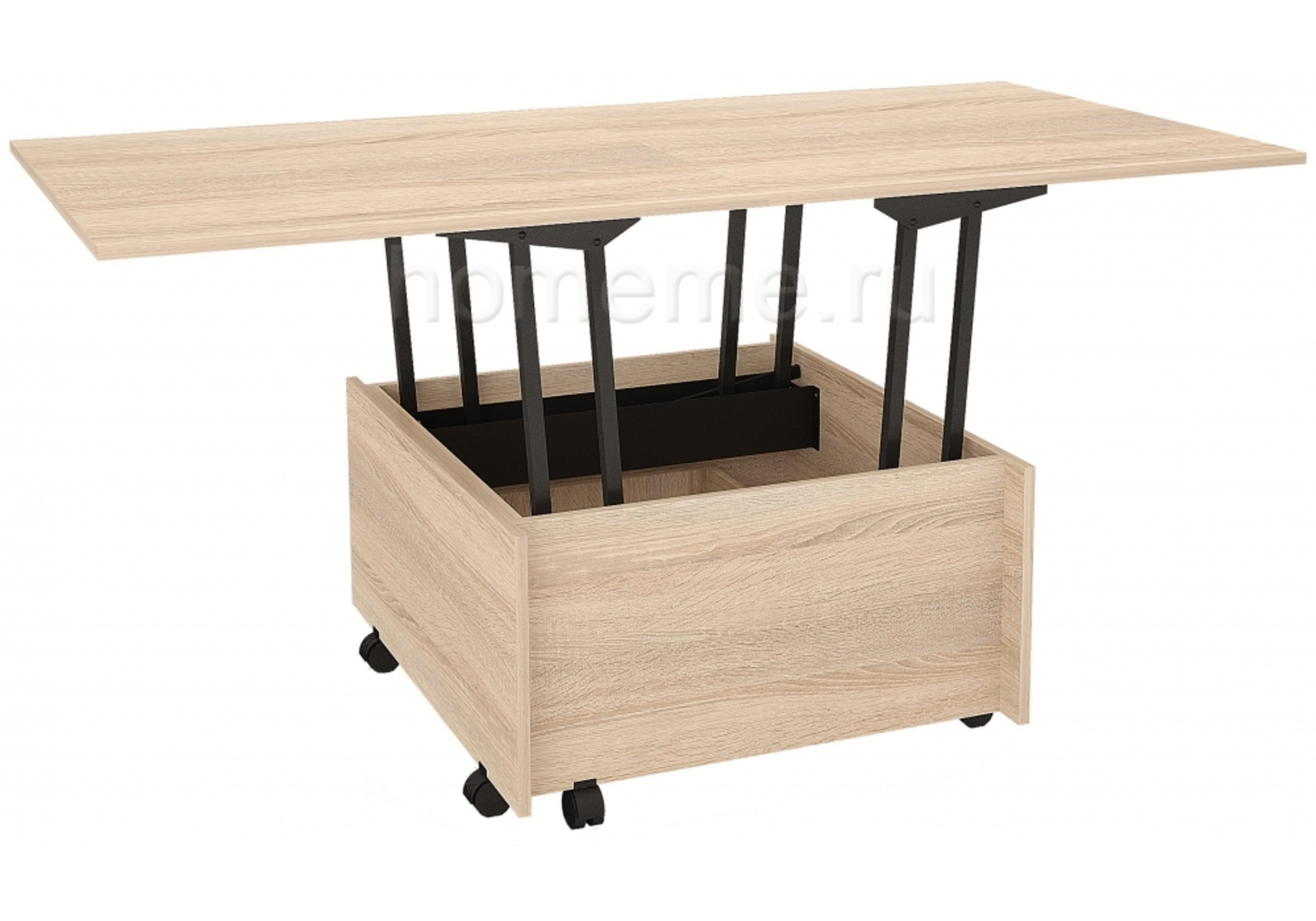 Кухонный стол HomeMe Трансформер сонома 294588 от Homeme.ru