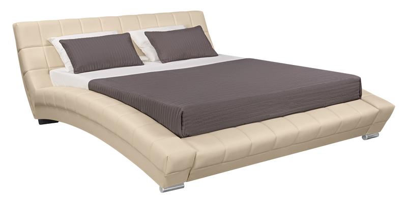 Мягкая кровать 200х160 Оливия с ортопедическим основанием (Luxe бежевый)