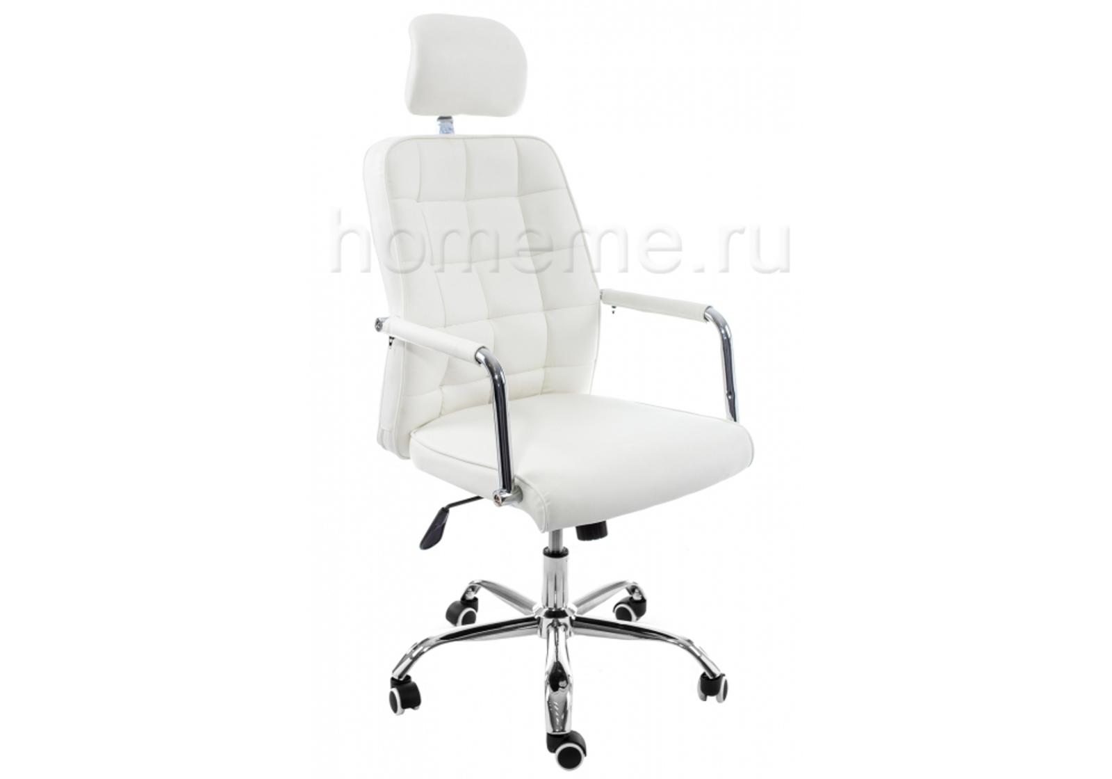 Кресло для офиса HomeMe Компьютерное кресло Atlas белое 11051 от Homeme.ru