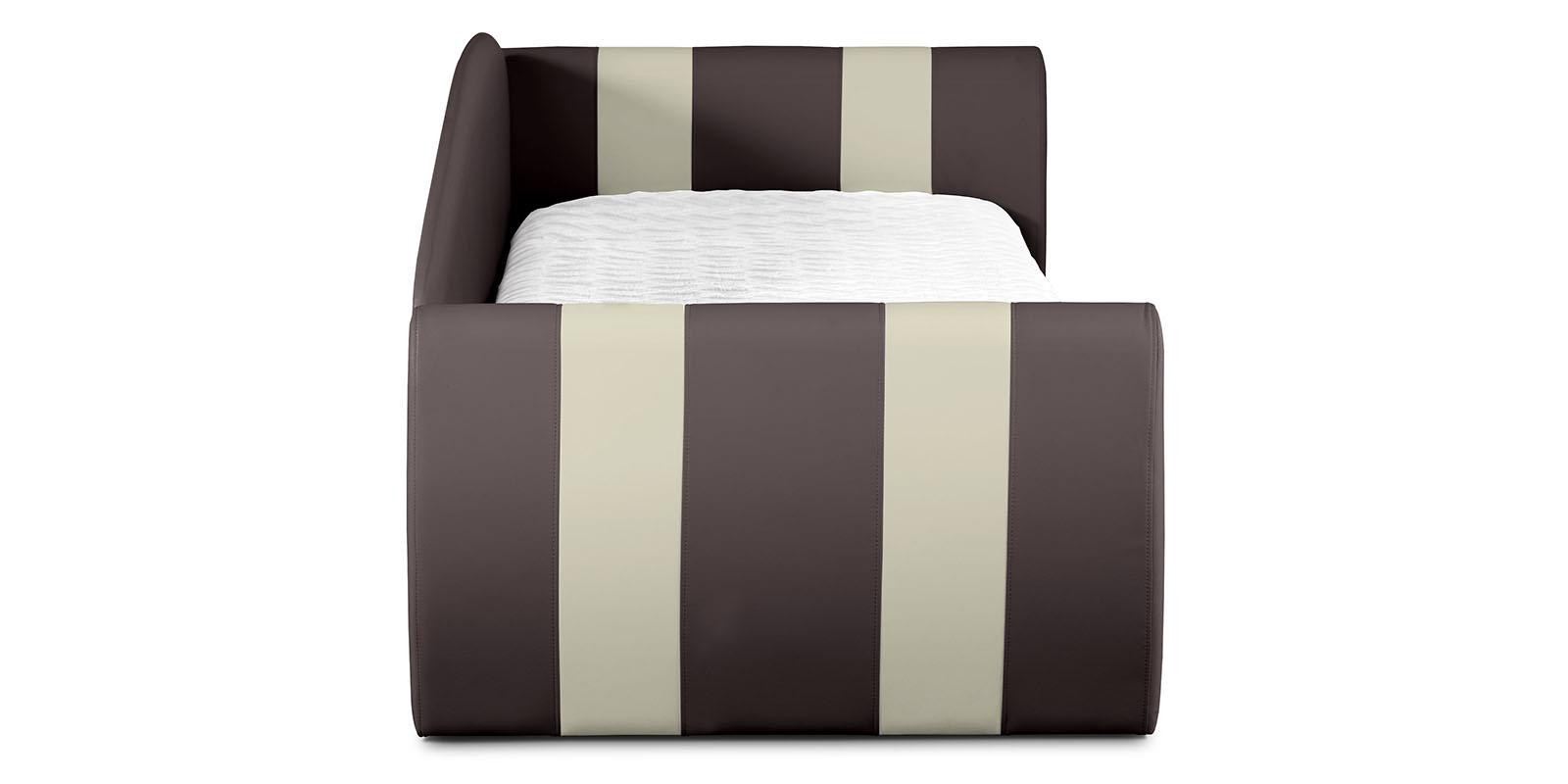Мягкая кровать 190х90 Монако угол правый (шоколад/молочный) от HomeMe.ru