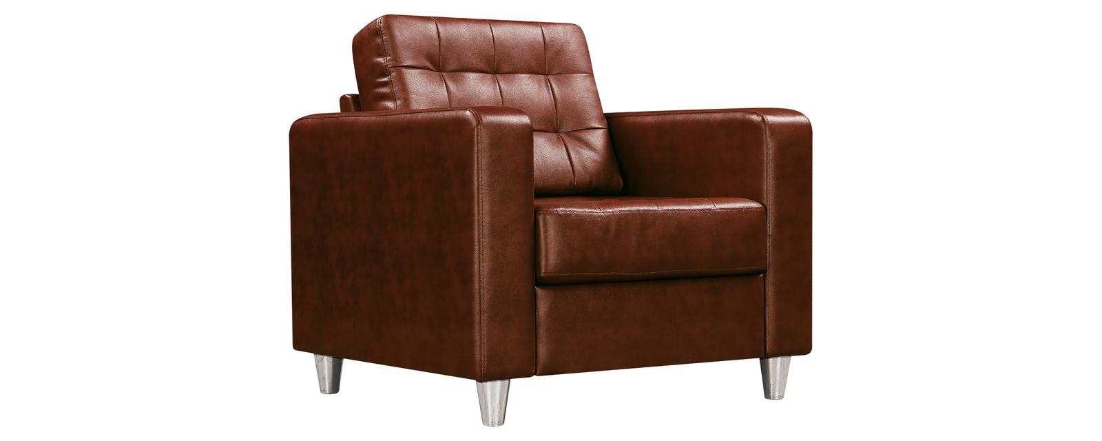 Кресло кожаное Камелот Коричневый (Натуральная кожа)