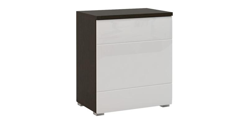 Шкаф распашной однодверный Верона 70 см вариант №1 (венге/белый глянец)