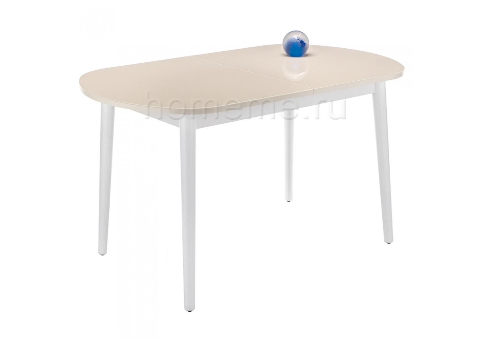 Кухонный стол HomeMe Брис 110 кремовый / белый 302620 от Homeme.ru