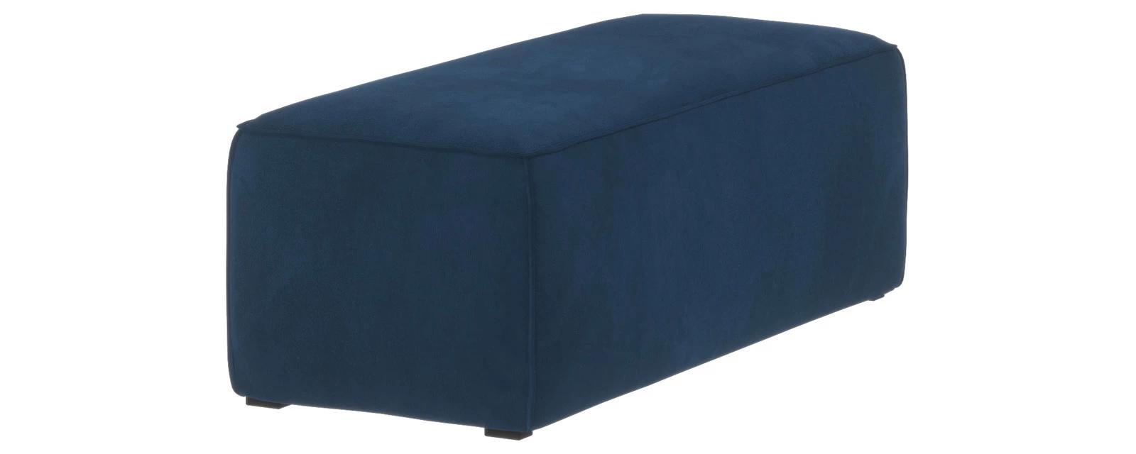 Банкетка Портленд Soft тёмно-синий (Вел-флок, левый)