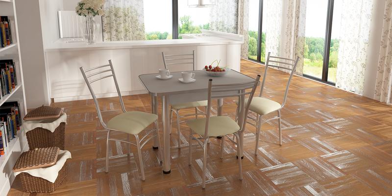 Обеденный стол Кёльн (хром/серебристый)