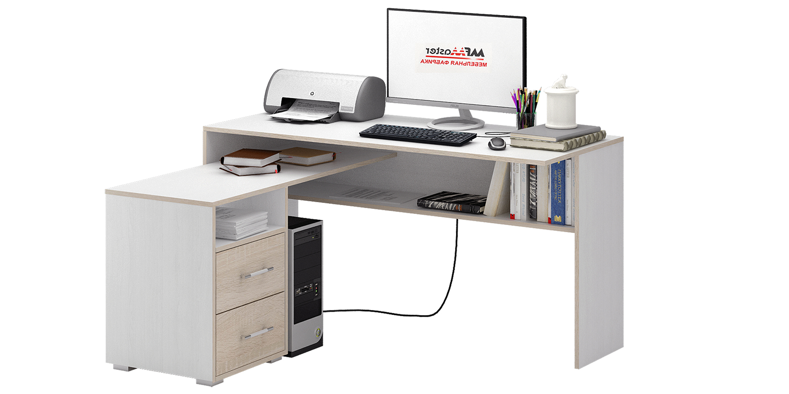 Стол компьютерный HomeMe Старк стол компьютерный milan