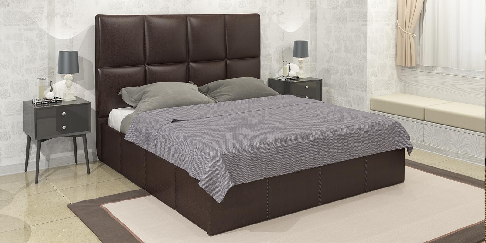Мягкая кровать 200х160 Сицилия с подъемным механизмом (Шоколад) Сицилия