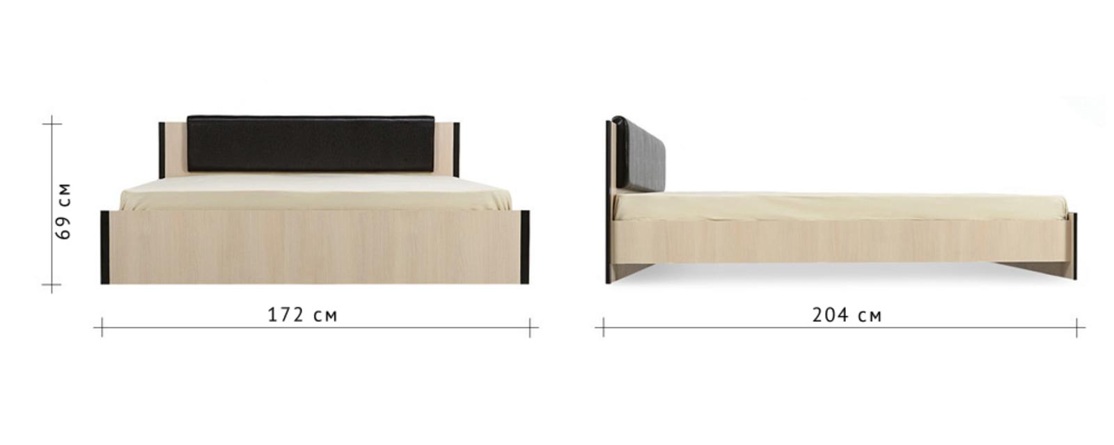 Кровать каркасная 200х160 Арно без подъемного механизма (Дуб кремона) от HomeMe.ru