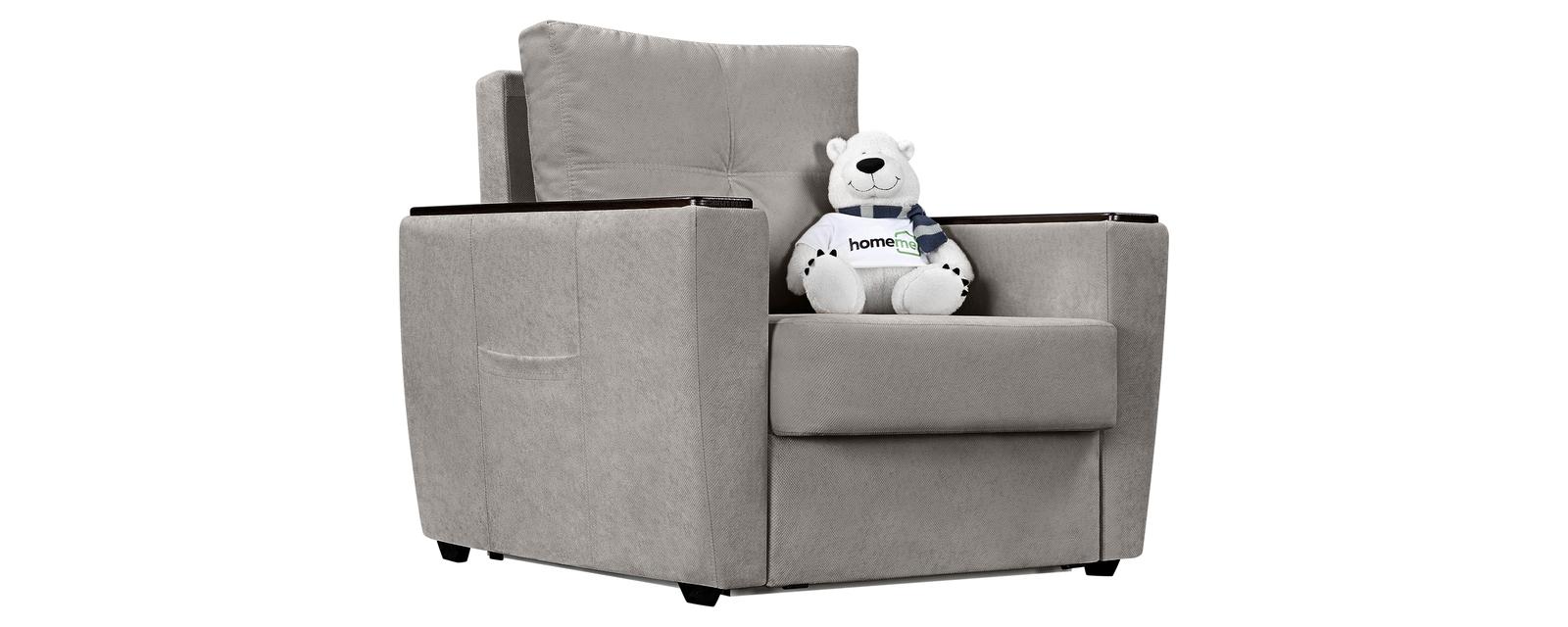 Кресло тканевое Майами Bubble светло-серый (Велюр)