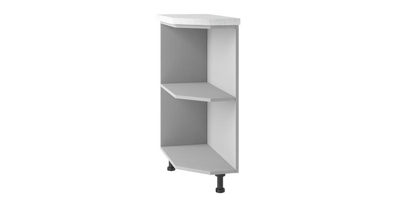 Кухонный напольный шкаф Тиара левый (серый)