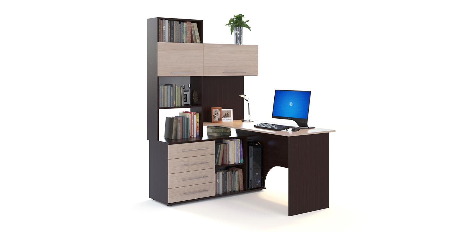 Стол компьютерный HomeMe Мерида AFU0083000