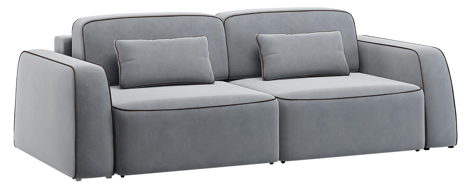 Модульный диван Портленд 200 см Вариант №3 Velutto серый (Велюр)