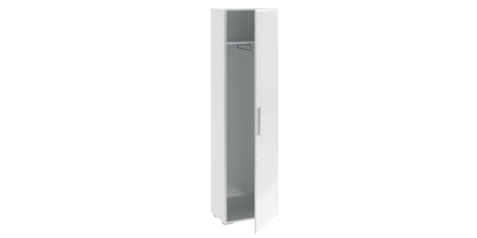 Шкаф распашной однодверный Сорренто вариант №1 (белый глянец)