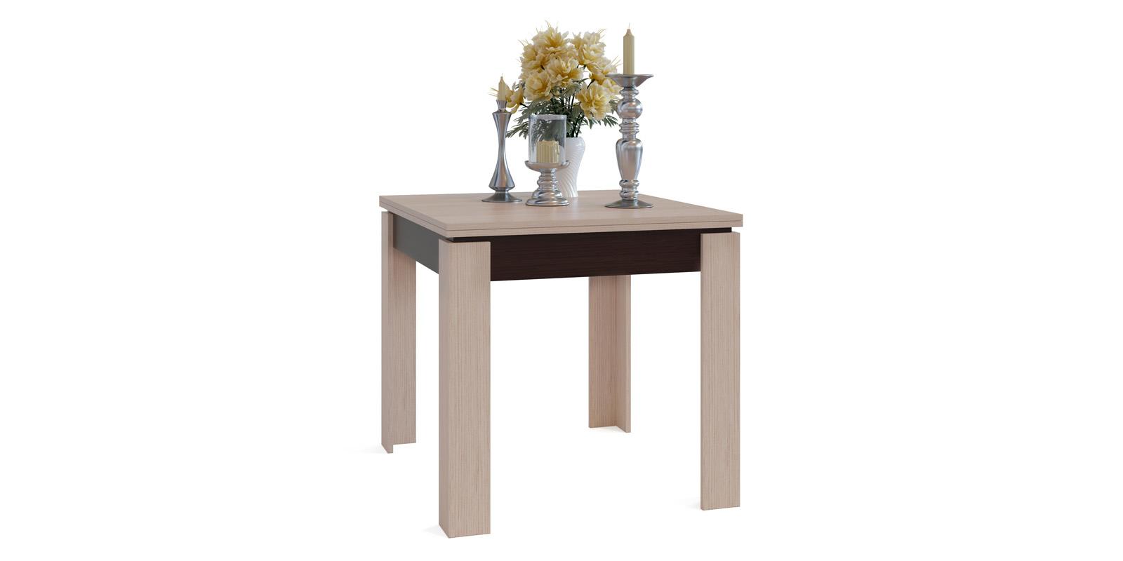 Обеденный стол Лутон вариант №2 (беленый дуб/венге)