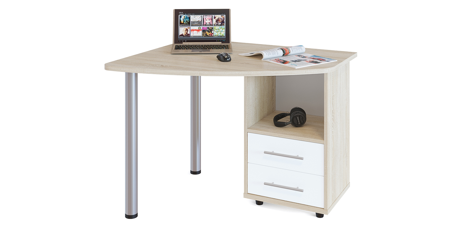 Стол компьютерный HomeMe Гала компьютерный стол недорого в москве стеклянный