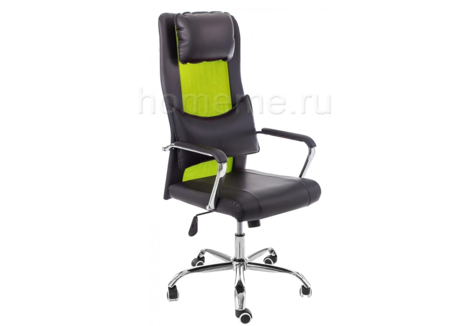 Кресло для офиса HomeMe Компьютерное кресло Unic black / green 11053 от Homeme.ru