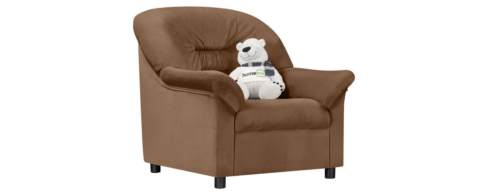Кресло тканевое Честер Velure коричневый (Велюр)