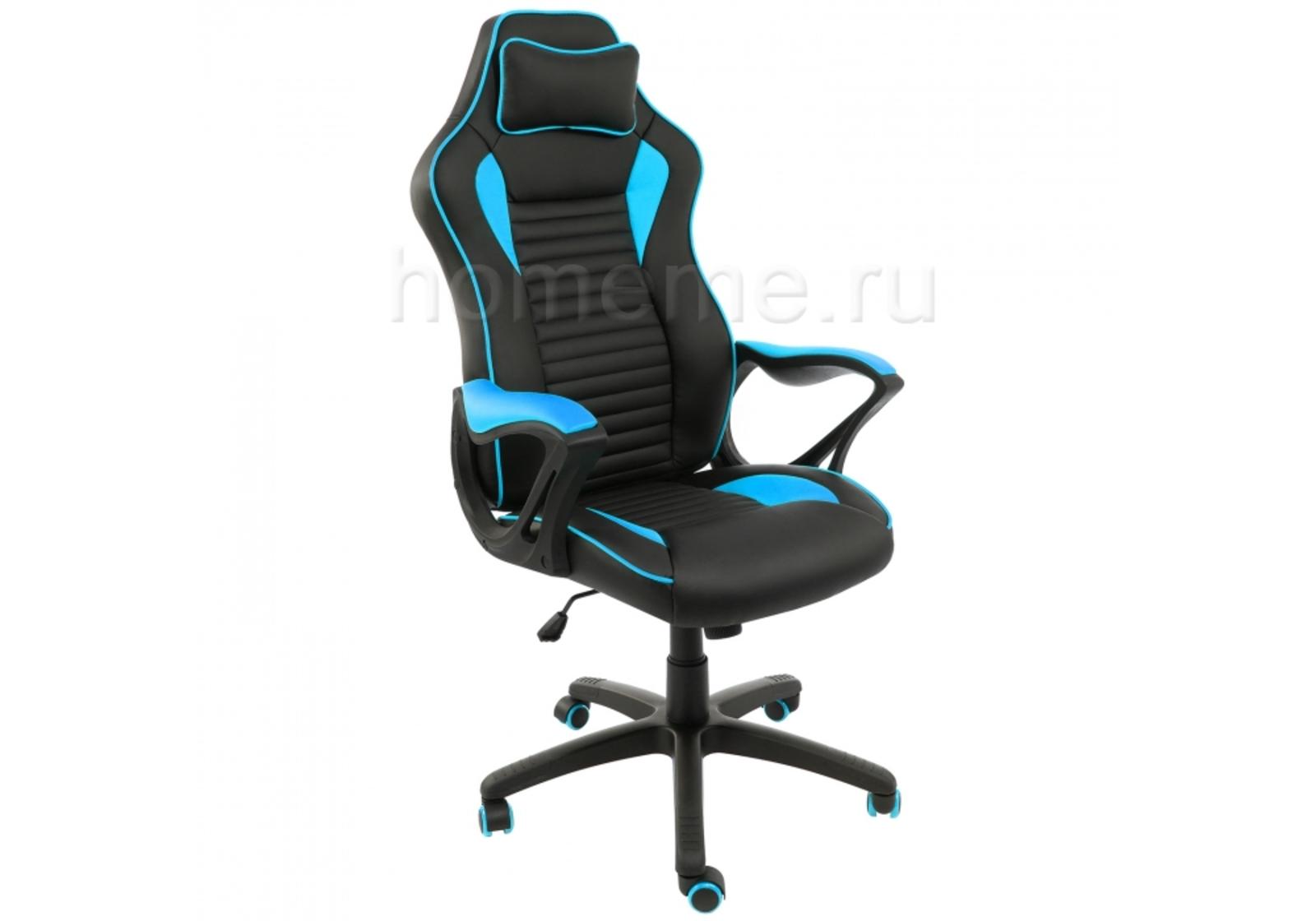 Компьютерное кресло Leon черное / голубое 1875 1875 фото