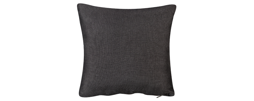 Декоративная подушка Медисон 40х40 см Falcone тёмно-серый (Рогожка)