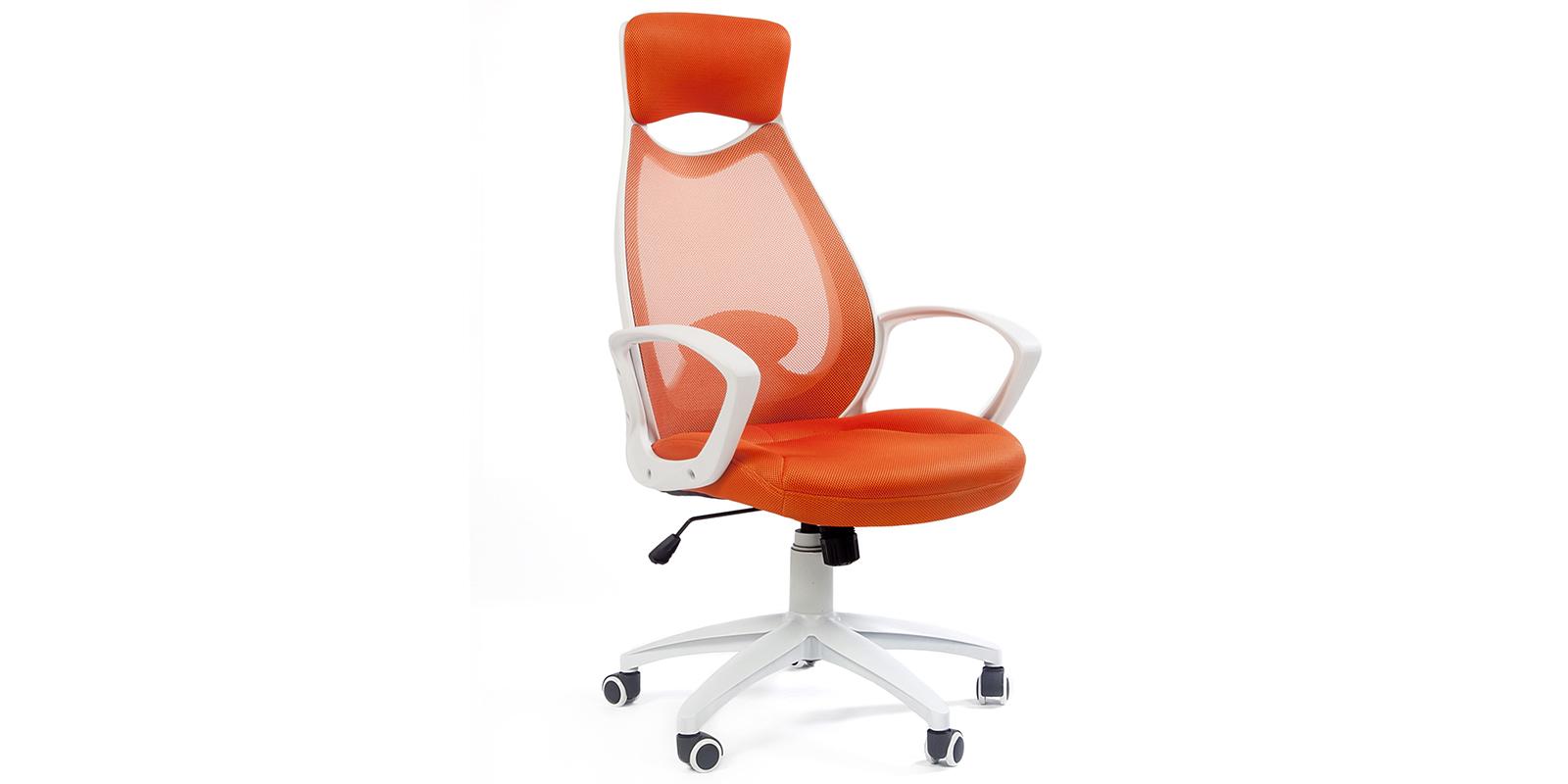 Кресло для руководителя Chairman 840 (белый/оранжевый)