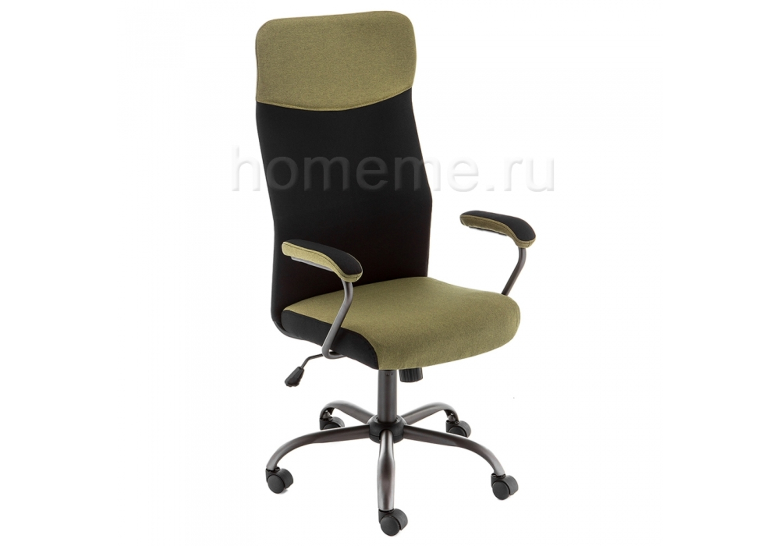 Кресло для офиса HomeMe Aven зеленое / черное 11276 от Homeme.ru