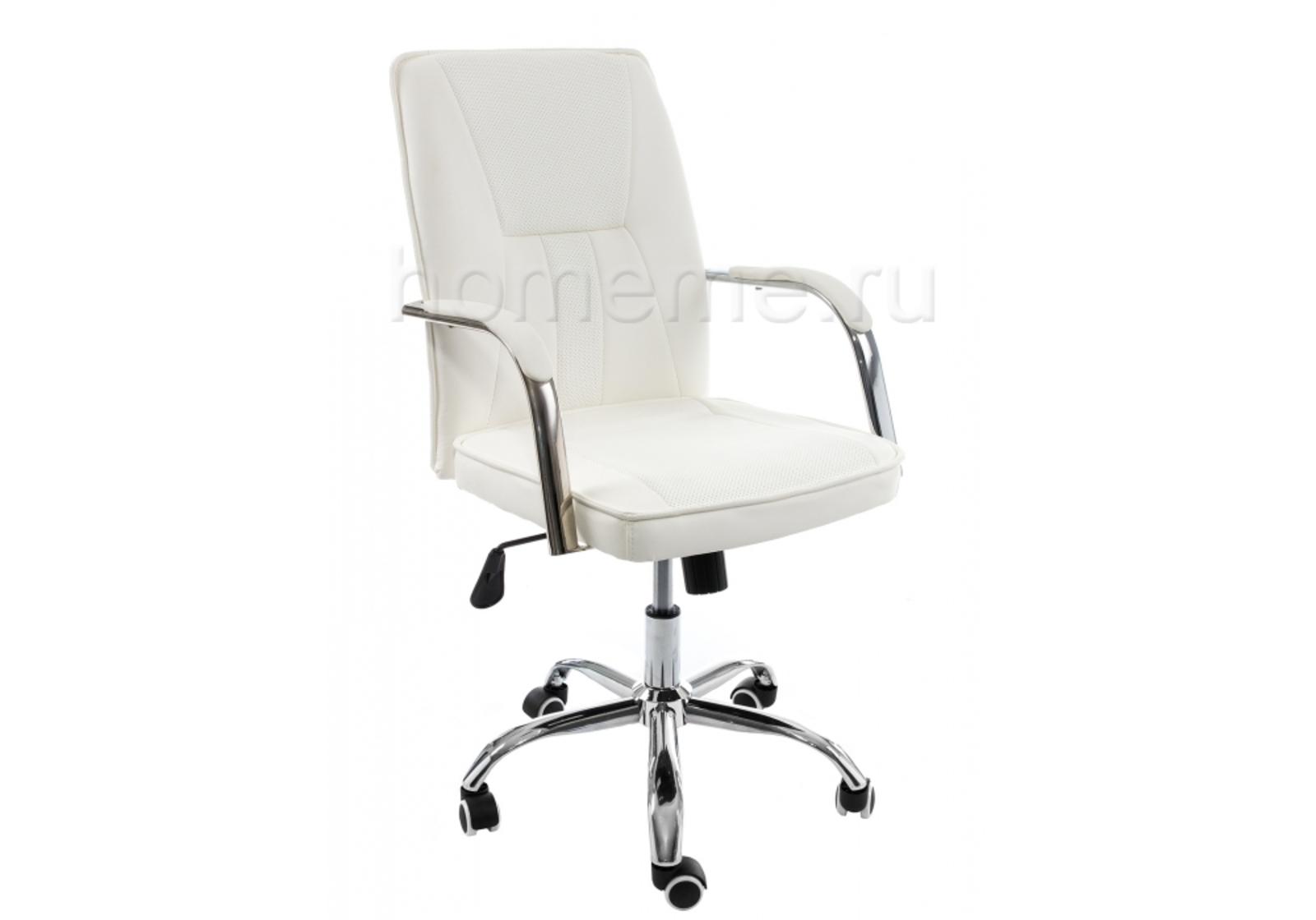 Кресло для офиса HomeMe Компьютерное кресло Nadir белое 11063 от Homeme.ru