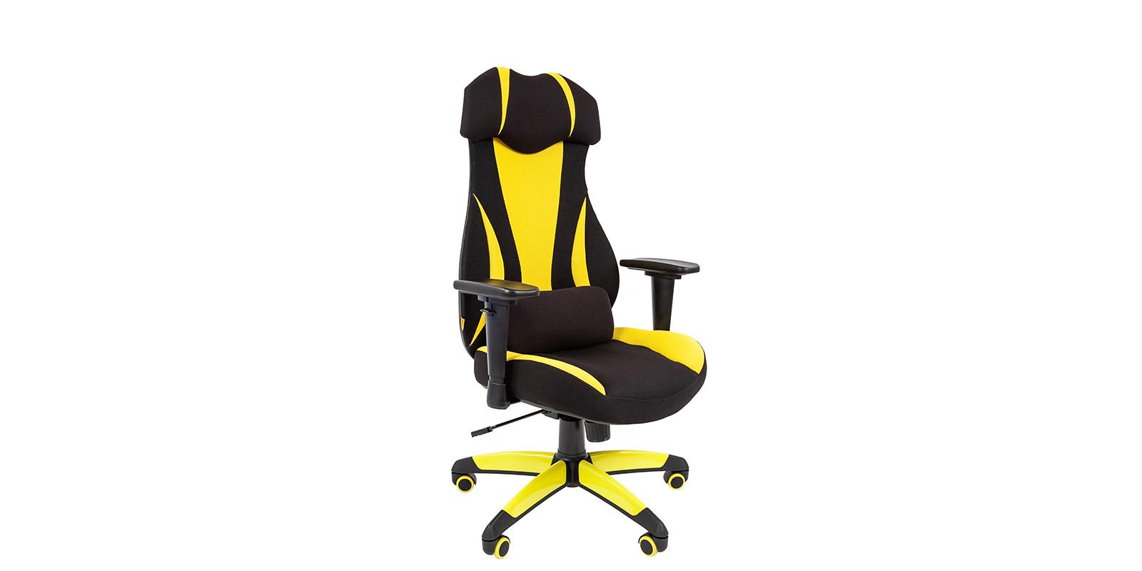 Игровое кресло Chairman game 14 (черный/желтый)