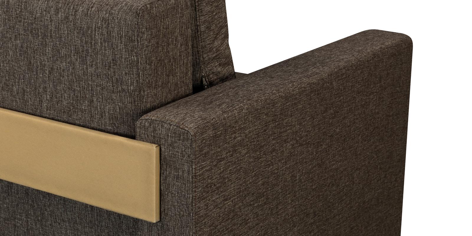 Диван тканевый прямой Траумберг Kraft коричневый (Рогожка)