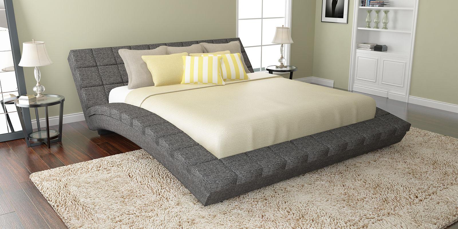 Купить Мягкая кровать 200х160 Оливия с ортопедическим основанием (Madagascar серый), HomeMe, Серый