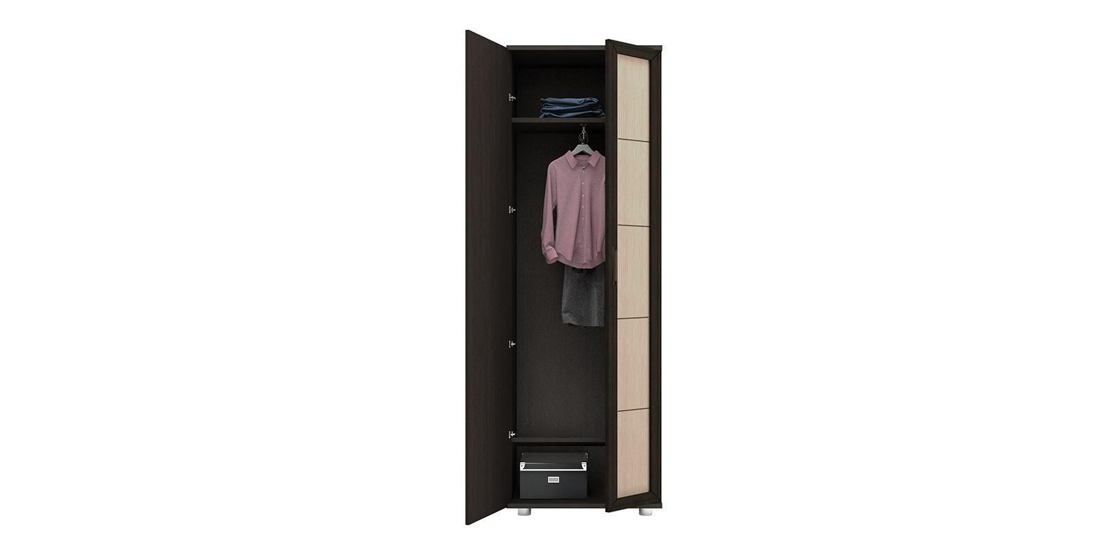 Шкаф распашной двухдверный Лестер (коричневый/бежевый)