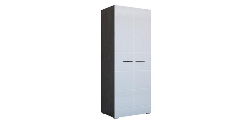 Шкаф распашной двухдверный Римини (венге/белый глянец)