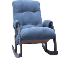 Кресло-качалка Модель 67 Венге, ткань Verona Denim Blue