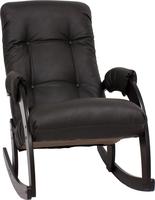Кресло-качалка Модель 67 Венге, к/з Dundi 108