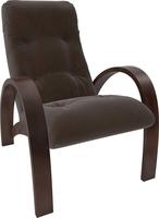 Кресло для отдыха Модель S7 Орех/шпон, ткань Verona Brown