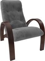 Кресло для отдыха Модель S7 Орех/шпон, ткань Verona Antrazite Grey