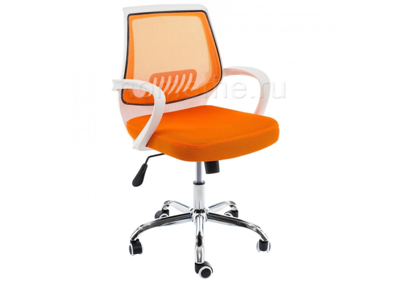 Кресло для офиса HomeMe Ergoplus белое / оранжевое 1972 от Homeme.ru
