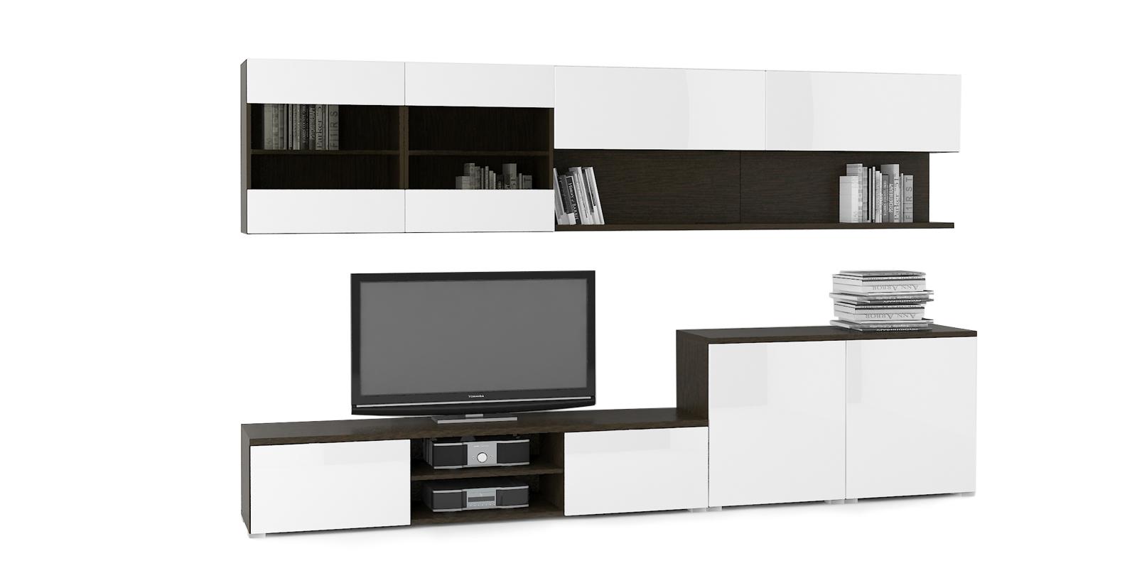 Модульная система Верона вариант №3 (венге/белый глянец) от HomeMe.ru