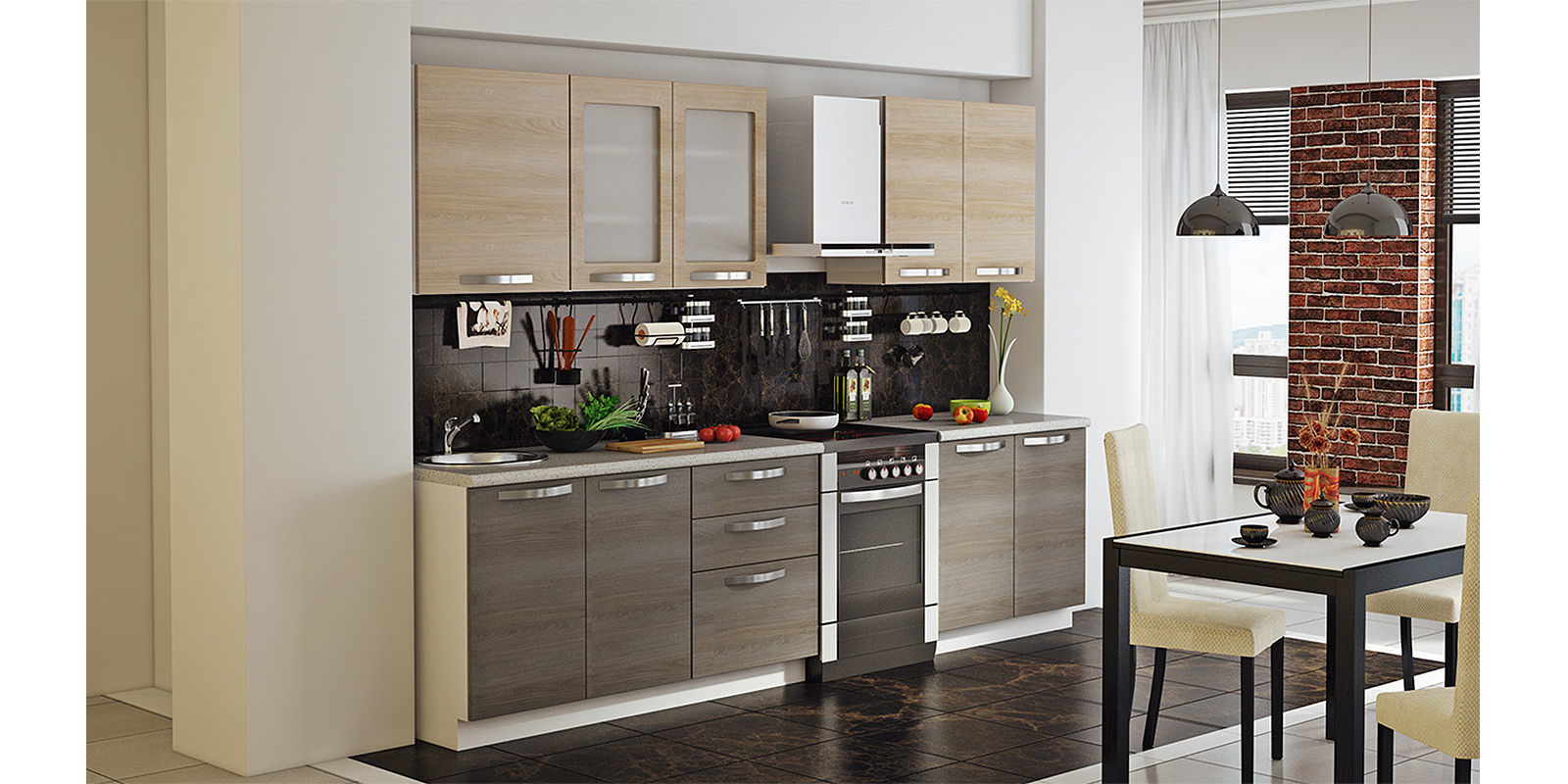 Кухонный гарнитур HomeMe Миранда ли миранда на пределе чувства