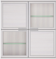 Полка 4 дверная (2 стеклодвери) Палермо