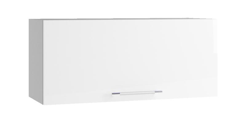 Кухонный навесной шкаф Тиара 80/35 см вариант №1 (серый/белый глянец)