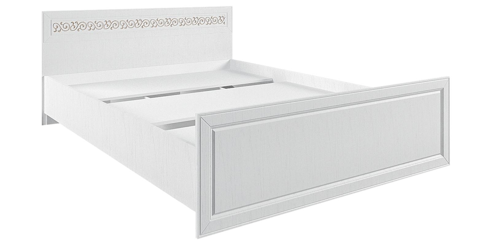 Кровать каркасная 200х140 Диамант без подъемного механизма (белый) от HomeMe.ru