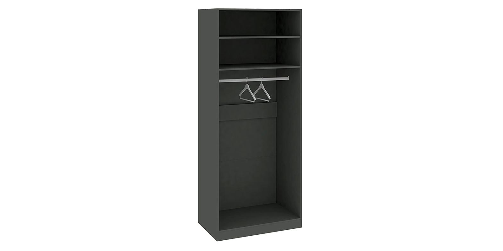Шкаф распашной двухдверный Сорренто вариант №1 (серый/коричневый)