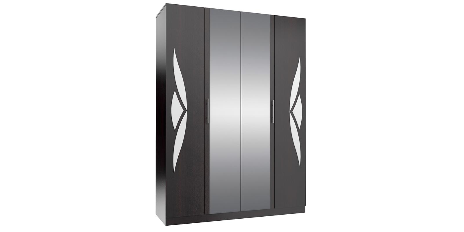 Шкаф распашной 4-х дверный Жаклин (дуб феррара/белый глянец)