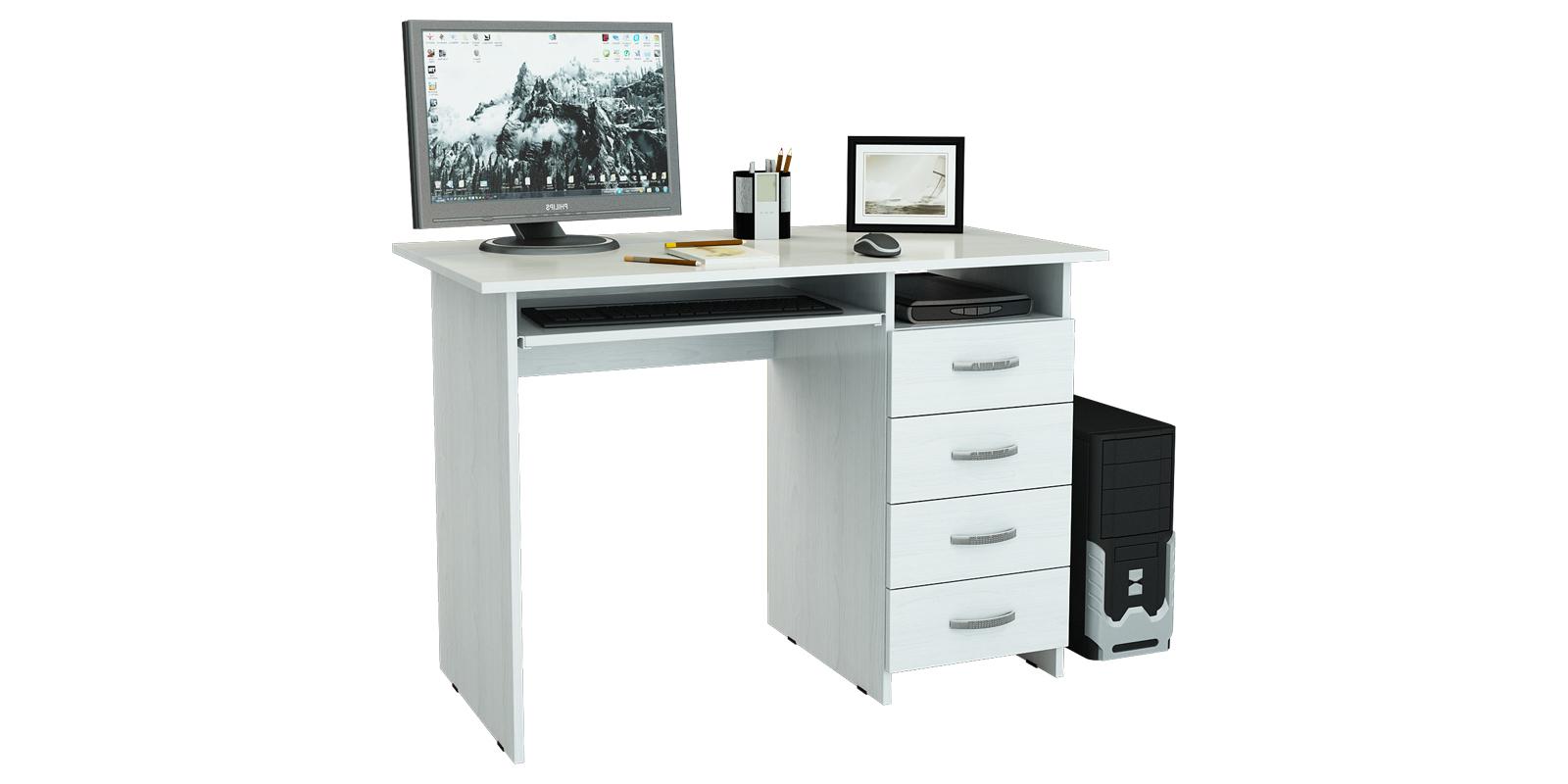 Стол компьютерный Харви правый (белый)