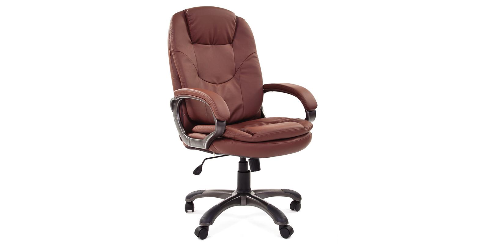 Кресло для руководителя Chairman 668 вариант №1 (коричневый)