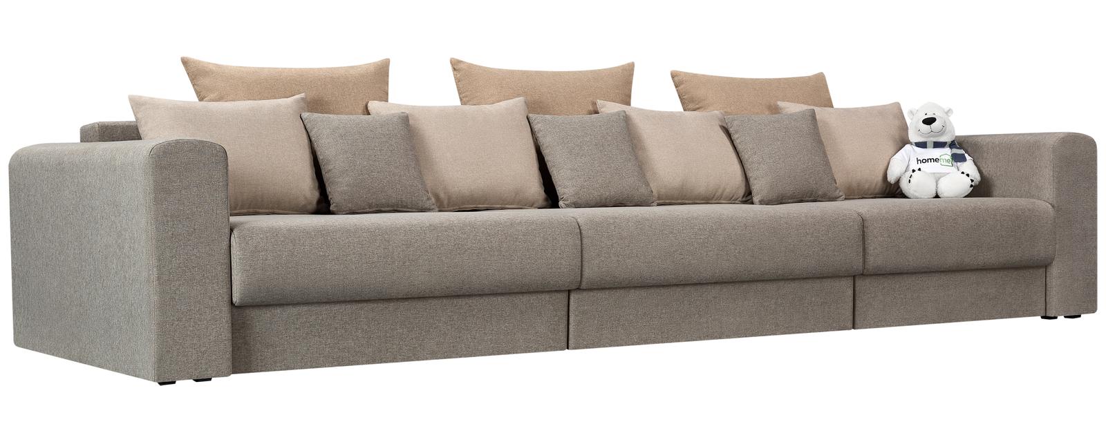 Модульный диван Медисон Вариант №1 Kiton серый (Рогожка)