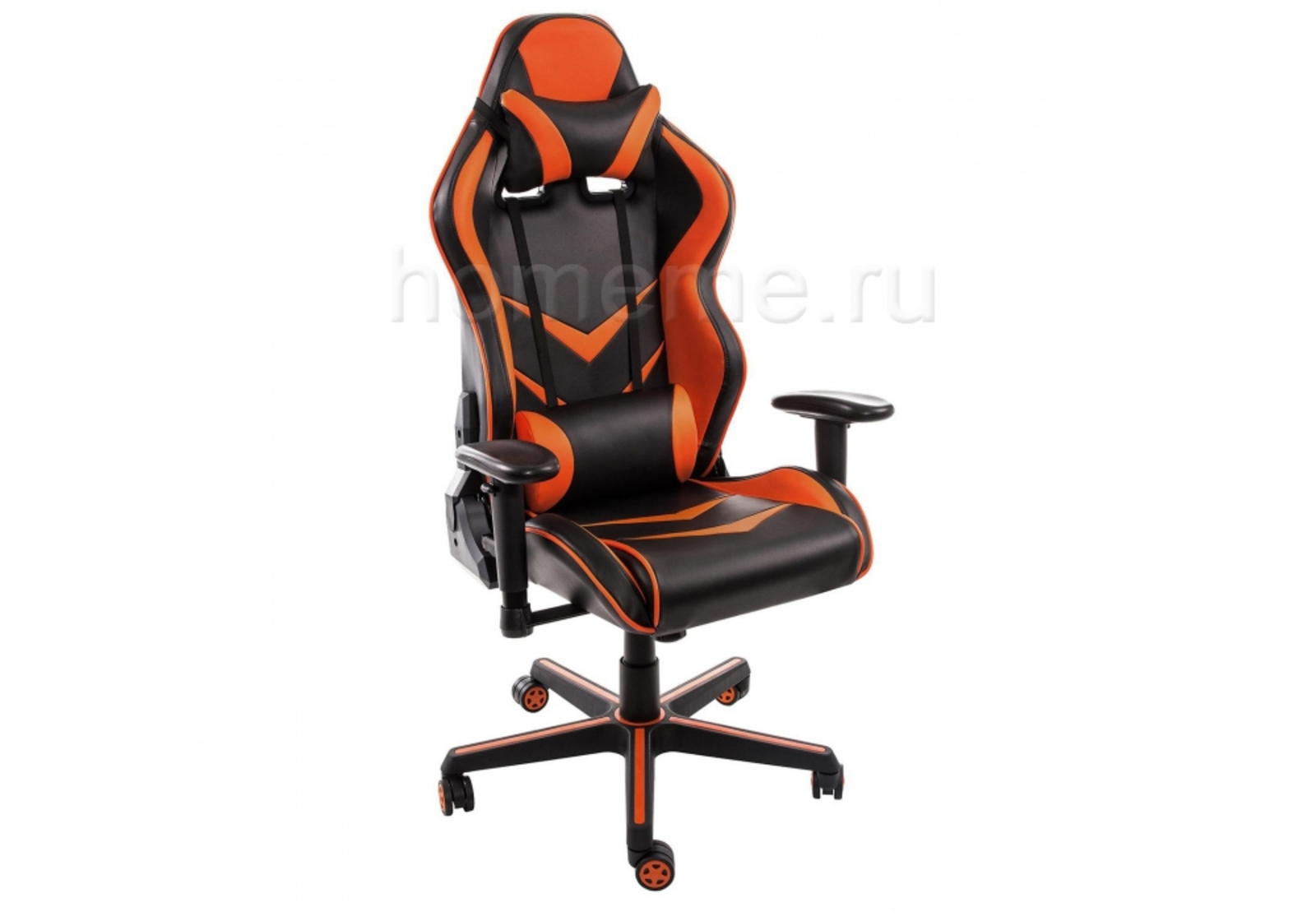Кресло для офиса HomeMe Racer черное / оранжевое 1855 от Homeme.ru